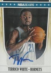 """30^ Terrico White-SG, 07/03/1990 Memphis (Tennesee), cm. 196, Kg 98, College: Mississippi 2008–2010, con gli Hornets: 09/12/2011-17/12/2011. http://www.youtube.com/watch?v=PWnW7DS-kCY White viene scelto nel draft NBA 2010 al secondo giro come trentaseisima scelta assoluta dai Detroit Pistonst. Incredibilmente durante la prima partita di preseason tra Detroiti e Miami, White si frattura seriamente il piede destro, privando i Pistons del suo talento. Detroit fu attratta dall'altezza, dalla velocità e dall'atletismo di questo giocatore, qualità che si aggiungono alle sue spettacolari schiacciate. A dicembre 2011, i Detroit Pistons prendono la decisione di separarsi da White. Lo stesso White diede la notizia su Twitter, dicendo: """"Ho appena saputo la notizia che i Detroit Pinstons mi lasciano libero. Non ho avuto davvero una possibilità a causa dell'infortunio. Mi metterò nelle mani Dio adesso. White così viene contattato insieme ad altri 8 giocatori (tra cui Lance Thomas), dagli Hornets ed entra nel training camp con New Orleans Hornets nel dicembre 2011. Il 28 dicembre però New Orleans lo taglia, così firma per l'Idaho Stampede. Gli Hornets forse lo tagliano perchè non è un grande difensore, usa il suo fisico in difesa, ma ha amnesie preoccupanti e a Williams questo non credo sia andato giù. In attacco tende a rifuggire dal contatto tirando in fade-away, piuttosto che utilizzare il suo fisico per andare dentro ed eventualmente farsi fare fallo. E' un buon attaccante ma soffre troppo la pressione addosso, decente ball handling che peggiora però messo nelle condizioni sotto pressione. Ha anche una """" frustrante mancanza di aggressività """" , il che però ha contribuito a fargli avere un tasso di turnover molto basso. Attualmente (settembre 2013) gioca per la squadra serba del Radnički Kragujevac."""