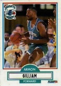"""20^ Armon (Louis) Gilliam """"The Hammer""""-N°45, PF-C, 28/05/1964, Pittsburgh (Pennsylvania) - 05/07/2011, Bridgeville (Pennsylvania), 206 cm, 104 kg, 1989-91, G. 85, Pt. 1622. Esiste una doppia versione del suo nome, Armon o Armen, questo perché verso la fine della sua carriera cestistica nella NBA ha cambiato l'ortografia del suo nome da """"Armon"""" a """"Armen"""" perché era stanco che fosse continuamente pronunciato male ed era stufo di correggere sempre le persone, quindi pensò di modificarlo in modo che fosse più rendere molto più facile da pronunciare. Armon disse di non essere musulmano, religioso o qualcosa di simile. Gilliam purtroppo crollò a terra durante una partita di basket in palestra nel sobborgo di Pittsburgh a Bridgeville, in Pennsylvania, la sera del 5 luglio 2011. Venne ricoverato all'ospedale St. Clair ma la sera stessa purtroppo venne dichiarato deceduto a causa di un attacco di cuore."""