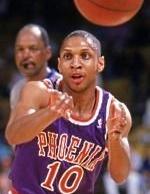 41^ Greg ('ory Alan) Grant-N°5, PG, 29/08/1966, Trenton (New Jersey), 170 cm, 64 kg, 1991-92, squadra precedente: New York Knicks, squadra successiva: Philadelphia 76ers, G. 13, Pt. 1. Nel 1996/97 giocò 14 partite con la Libertas Forlì.
