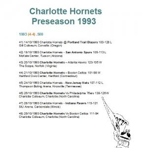 Preseason 1993/94.
