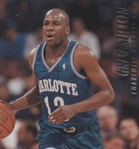 65^ Greg ('ory Ray) Sutton-N°12, PG, 03/12/1967 Santa Cruz (California), 188 cm, 77 kg, 1994-96, squadra precedente: Apollon Patrasso, squadra successiva: Philadelphia 76ers, G. 71, Pt. 325. http://www.youtube.com/watch?v=HHJRbyVjZYY&feature=youtu.be