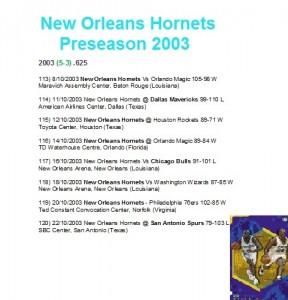 Preseason 2003/04.