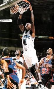 74^ Glen (Anthony) Rice-N°41, SF, 28/05/1967 Flint (Michigan), 201 cm, 98 kg, 1995-98, squadra precedente: Miami Heat, squadra successiva: Los Angeles Lakers, G. 240, Pt. 5651. http://youtu.be/Fx0_LELRSzo