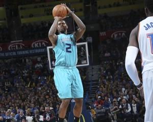 """Marvin Williams. Uno dei pochi giocatori degli Hornets a salvarsi nella serata """"relax"""" a Oklahoma City."""