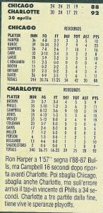 Charlotte NC, 30/04/1999 Charlotte Hornets-Chicago Bulls 92-88