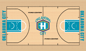 Parquet Hornets 2005-07, Oklahoma City, Ford Center.