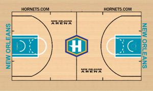 Parquet Hornets 2007-08 New Orleans LA, New Orleans Arena.