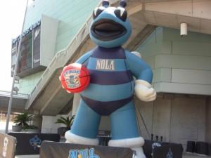 Hugo gonfiabile gigante a New Orleans.
