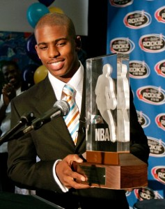Rookie of The Year: Chris Paul (2006 New Orleans/Oklahoma City Hornets).