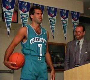 Charlotte Hornets, divisa da trasferta. Solo 1988/89.