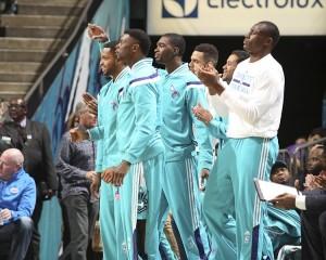La panchina degli Hornets.