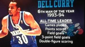 La grafica che ricorda Curry come primatista di franchigia in diverse classifiche.