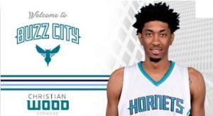 Christian Wood accolto dalla pagina ufficiale degli Charlotte Hornets.