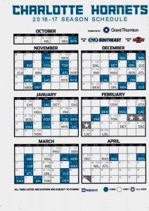 Calendariohornets
