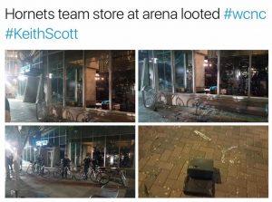 Il negozio degli Hornets.